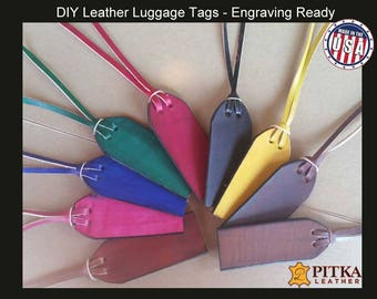 Engraving ready Luggage Leather Tags - Leather Baggage Tags-Leather Luggage Tags – DIY Leather Tags – Bulk Leather Luggage Tags - Wholesale