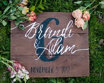 Wooden wedding signs | Etsy