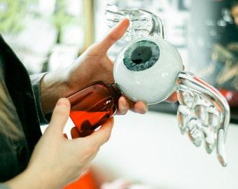 Flying Eyeball Von Dutch Glass Sculpture