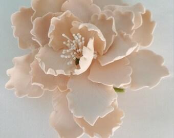 """4""""  Large Blush Garden Peony Cake Topper/ Edible Blush Peony Cake Topper/ Edible Flower/ Wedding Cake Toppers/ Blush Peony Sugar Flower"""