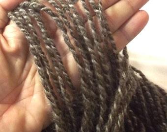 Organic Wool Yarn - Undyed Yarn - Handspun Woolen Yarn - Winter Yarn - Natural Gray Wool Yarn - Knit Crochet Yarn - Luxury Yarn