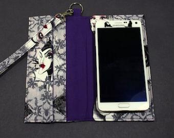 Disney Evil Queens Cellphone Wristlet, Cellphone Wallet, Card Holder, Phone Wallet, Wristlet Wallet, Womens Wallet