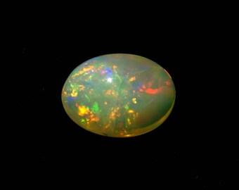 60% OFF - Ethiopian Opal Gemstone / Ethiopian Opal Cabochon 11x8.5x4.5 mm 1.90 Carat (EO-72)