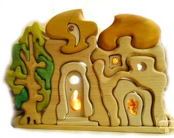 Amber Gnome House with a Tree