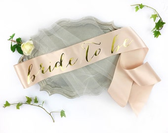 Bachelorette Sash - Bride to Be Sash - Bachelorette Party - Bride Gift - Blush Bride Sash - Bridal Shower - Bachelorette Party Accessory