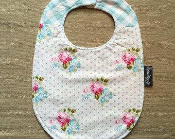 Large Baby Bib | Designer cotton & terry, with flannel core