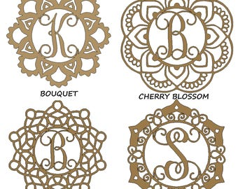 Custom Wooden Mandala Monogram