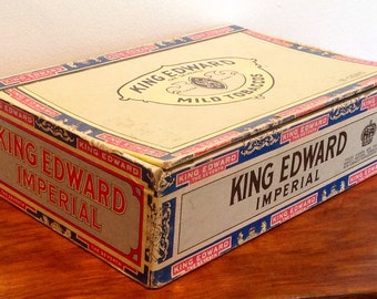 King Edward Imperial Cigar Box. Vintage American Cigar Box. 1950's/60's.