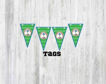 Baseball Birthday Tags/Baseball Party/Sports Party/Boy Party/Girl Party/Tags