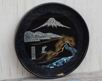 Cool Vintage Small Lacquer Asian Tray!