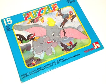 "Vintage Nathan puzzle ""Dumbo and the crows"""