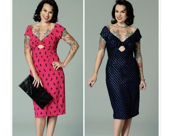 Butterick Sewing Pattern B6413 Misses' Gathered-Front, Keyhole Dress