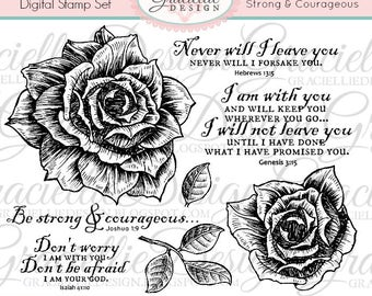 POP-UP Edition: Strong & Corageous - Digital Stamp Set