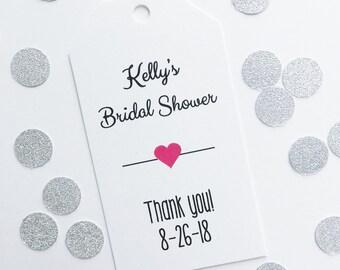 Bridal Shower Favor Tags, Custom Wedding Shower Tags, Custom Wedding Hang Tags  (MLT-006)