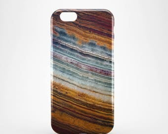 Agate marble 3D case Apple iPhone 4 5 6 7 Samsung Galaxy S6 S7 #13