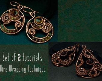 Set of 2 tutorials (2 pairs of earrings)