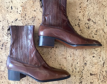 New brown  boots Jean Bady Vintage 1970's