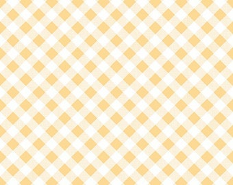 Gingham Yellow One Yard Cut from Sew Cherry 2 by Lori Holt for Riley Blake Fabrics