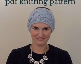 Cable Knit Headband Knitting Pattern, Cable Knit Ear Warmer Pattern, Hand Knit Headwrap, Knitted Headband Pattern, Beginner Pattern