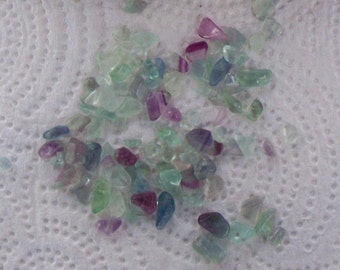 Bag of Undrilled Fluorite Chips - About 1 lb