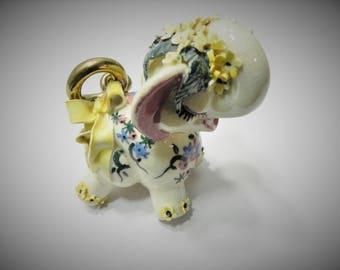Vintage Ceramic Copa de Oro Fantasy Elephant Figurine - Mary Jane Hart 1946