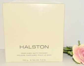 Sealed Vintage Original Halston Perfumed Bath Body Dusting Powder 150g Perfume New NOS