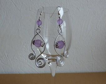 Pierced ears purple - Made in FRANCE