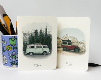 SET OF 2 - campervan series 1 - Roels notebooks - size A6