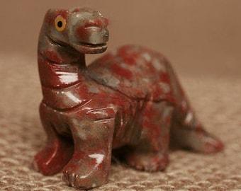 Hand-Carved Soapstone Brontosaurus