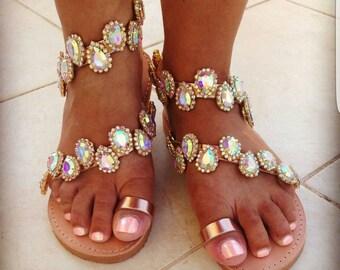 Bridal crystal sandals