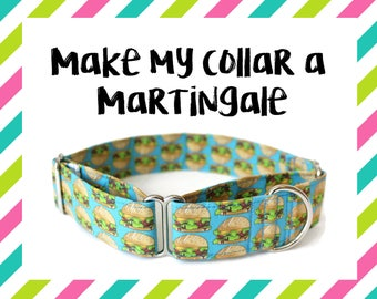 "Make My Collar a Martingale, SEE DETAILS + IMAGES, Martingale Collar, Martingale Upgrade, Martingale Collar, Martingale, 5/8"", 1"", 1.5"", 2"""