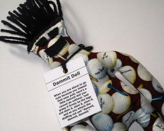 New, Dammit Doll, Golf, stress relief item for the avid golfer