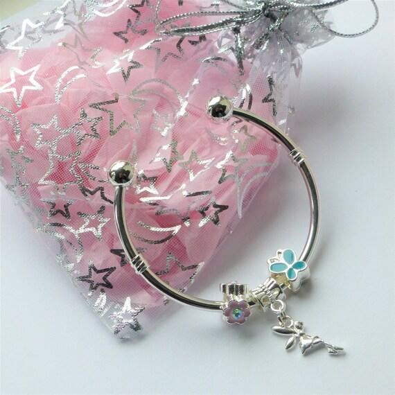 Tinkerbell Charm Bracelet: Fairy Charm Bracelet Tinkerbell Butterfly Flower Charm Beads