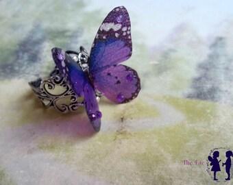Beautiful Purple 3D Butterfly Ring (2)