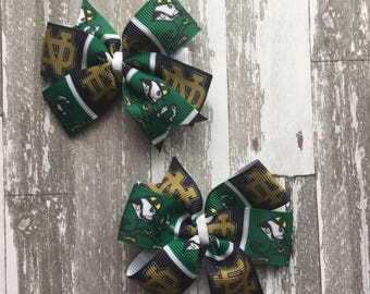 Notre Dame Headband - Notre Dame Infant Headband - Notre Dame Football - notre dam bow - notre dam hair bow