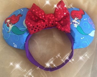 Music of the Waves Mini Minnie Ears Little Mermaid Toddler Baby