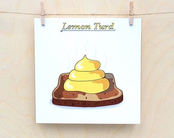 poo Card, Funny card, funny greetings card, funny poo card,