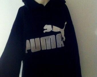 black puma hoodie mens 2xl
