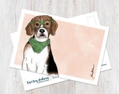 Cute Illustrated Beagle w...