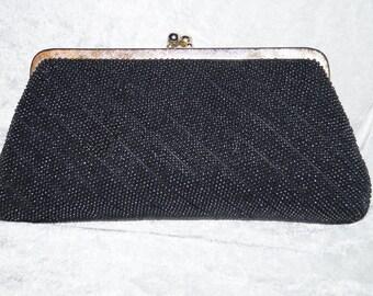 Vintage 1960's Clutch Pearls Evening Bag
