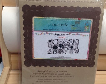 In Circle Me Unity Stamp Company red rubber unmounted cling stamp Unused