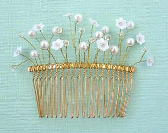 "Delicate bridal haircomb ""Lisette"""