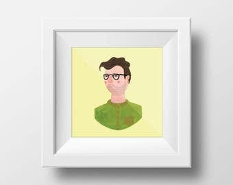 Personalised Illustrated portrait (framed)
