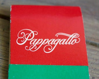 Vintage Pappagallo Matchbook Cover - A Taste of Italy in Old Pasadena - Lunch & Dinner