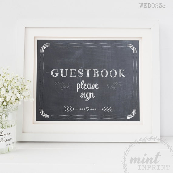 items similar to guestbook sign please sign our guest book wedding sign guest book printable. Black Bedroom Furniture Sets. Home Design Ideas
