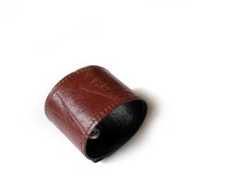 Brown leather cuff bracelet for him and her. Mens leather cuff. Cuff for her. Leather bracelet. Leather brown bracelet. Leather jewelry