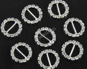 10 pcs Rhinestone Button, crystal buttons, Embellishment Button