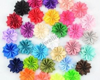 Satin Ribbon Flower, Wholesale Flowers,Diy Headband Supply Embellishme