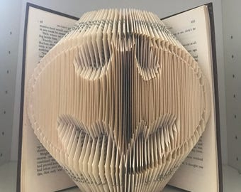 Batman logo folded book art