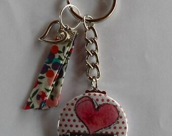 Badge Porte clés 38mm Maman Je T'aime Cadeau Fête des Mères.
